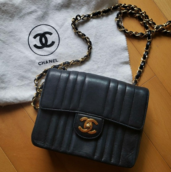 CHANEL Bags   Vintage Mini Square Flap Crossbody   Poshmark aa87ab7a11